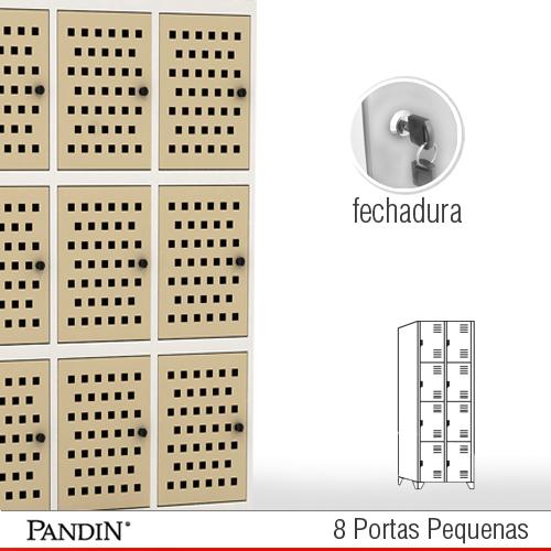 Roupeiro de a o 8 portas pfd26p roupeiro pandin for Armario vestiario 8 portas